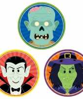 Feest halloween 30x halloween onderzetters vampier heks zombie