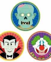 Feest halloween 30x halloween onderzetters vampier horror clown zombie