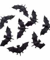 Feest halloween 8x plastic vleermuizen 10 cm halloween dieren