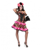 Feest halloween day of the dead halloween jurk voor dames