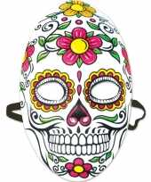 Feest halloween day of the dead sugarskull halloween gezichtsmasker voor dames