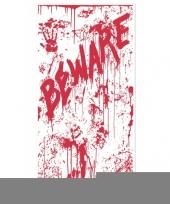Feest halloween deurposter met bloed