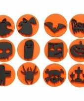 Feest halloween foam stempels 12 stuks