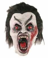 Feest halloween halloween dracula masker van latex
