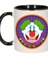 Feest halloween halloween horror clown mok beker 300 ml
