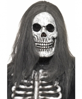 Feest halloween masker skelet hoofd