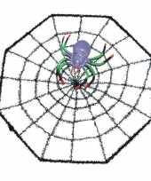 Feest halloween spinnenweb 29 x 29 cm halloween versiering met spinnetje