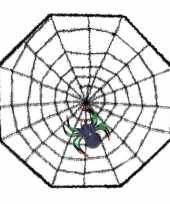 Feest halloween spinnenweb 38 x 38 cm halloween versiering met spin