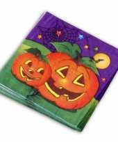 Feest halloween thema servetten 20 stuks