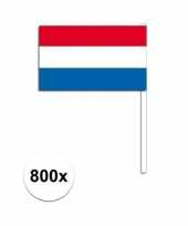 Feest handvlag nederland set van 800x