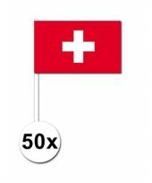Feest handvlag zwitserland set van 50