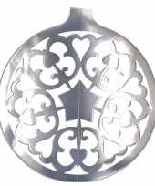 Feest hangdecoratie kerstbal zilver 49 cm