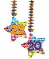Feest hangversiering 20 jaar 2 stuks