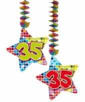Feest hangversiering 35 jaar 2 stuks