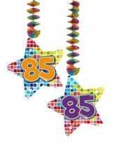 Feest hangversiering 85 jaar 2 stuks