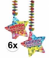 Feest hangversiering happy birthday jaar 6 stuks