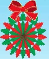 Feest hangversiering kerstkrans 60 cm