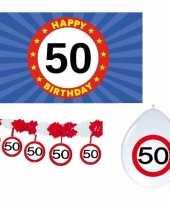 Feest happy birhday verjaardag pakket versiering 50 jaar