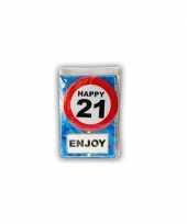 Feest happy birthday leeftijd kaart 21 jaar