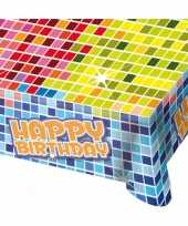 Feest happy birthday tafelkleed 130x80 cm