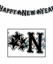 Feest happy new year wenslijn goud 90 cm