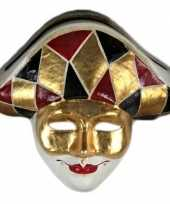 Feest harlekijn masker handgemaakt