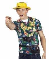 Feest hawaii shirt fotoprint toerist voor heren