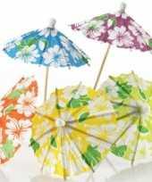 Feest hawaii thema ijs parasols 24 stuks