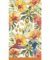Feest hawaii thema tafellaken tafelkleed 138 x 220 cm herbruikbaar