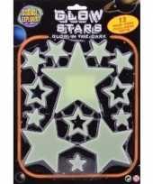 Feest heelal decoratie glow in the dark sterren 13 stuks