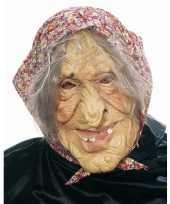 Feest heksen masker met hoofddoekje