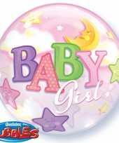 Feest helium ballon voor de geboorte van een meisje