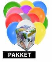 Feest helium tank met 100 gevarieerde ballonnen