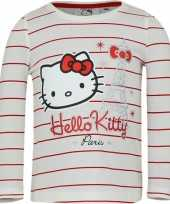 Feest hello kitty t-shirt wit met rood