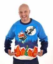 Feest heren kersttrui sleigh ride