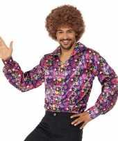 Feest hippie peace overhemd voor heren