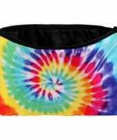 Feest hippie schooletui tie dye print