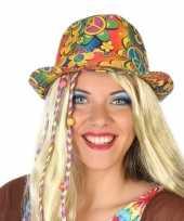 Feest hippie trilby verkleed hoedje voor volwassenen