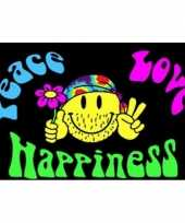 Feest hippie vlag peace love and happiness