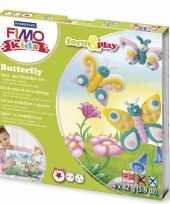 Feest hobbymateriaal fimo kids pakket vlinder