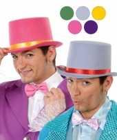 Feest hoge fuchsia roze clowns hoed van vilt