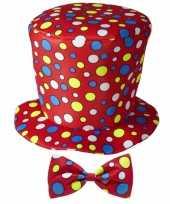 Feest hoge fun hoed rood met strik