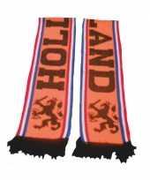 Feest holland voetbalsupporters sjaal oranje enkel gedrukt