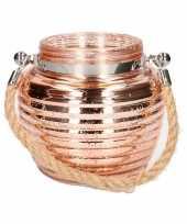 Feest home deco windlicht lantaarn koper 13 cm
