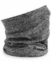 Feest hoofdband colsjaal spacer grijs voor volwassenen