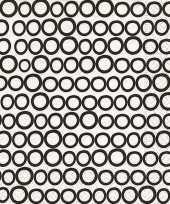 Feest horeca servetten zwart wit rondjes 20x