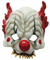 Feest horror clown half masker