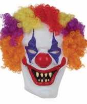 Feest horror clown masker voor volwassenen