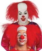Feest horror killer clownspruik voor volwassenen