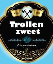 Feest horror thema fles etiketten trollen zweet